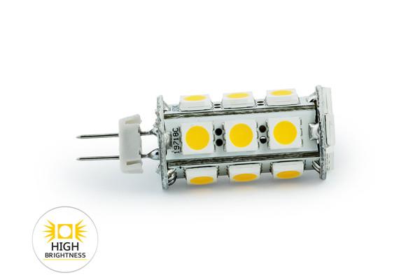 LEDtechnics G4 18 SMD 2835H CORN CIEPŁA |  12V AC/DC | 3,1 W | biały ciepły (2800-3300K) | 1151